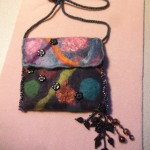 Felted and beaded purse