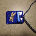The completed pendant with it's custom cord