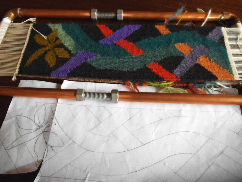 And, of course, the back of the loom was also warped!