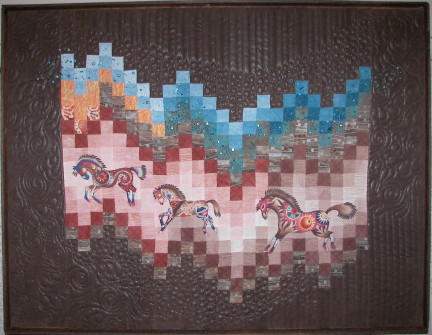 Painted Ponies...pieced and quilted