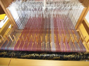 Warp 18 1/2 inches wide, 4 yards long