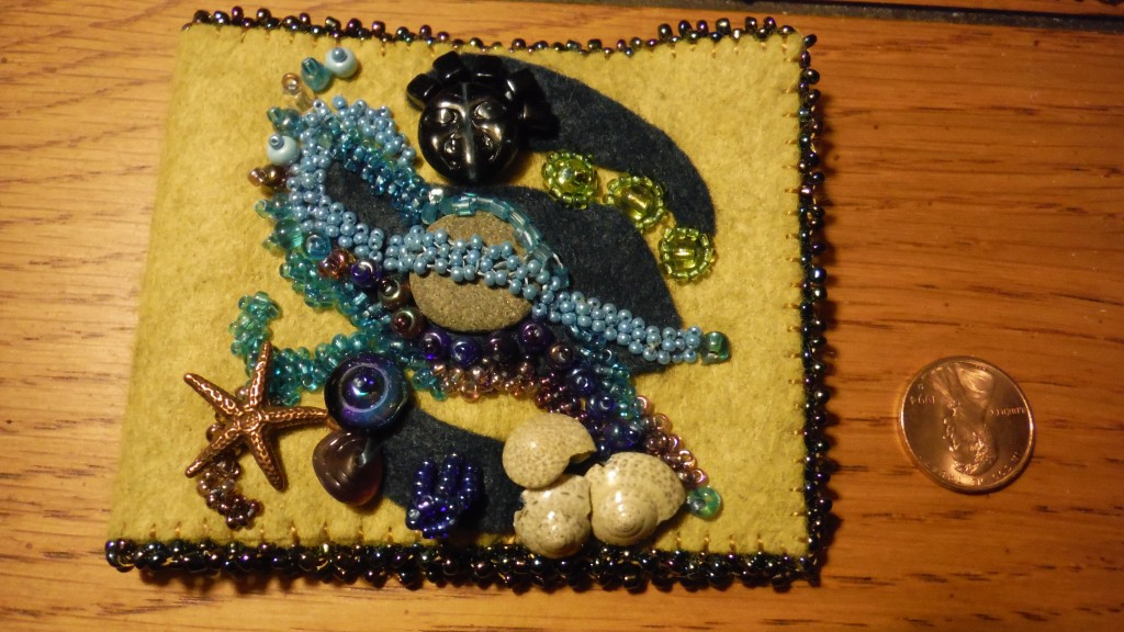 Sea scape needle book